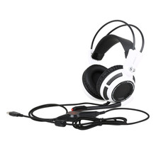 Somic G941 USB 7.1 Virtual Gaming Headset with Microphone Vibration Stereo Bass Game headphone LED Light for Computer PC Gamer