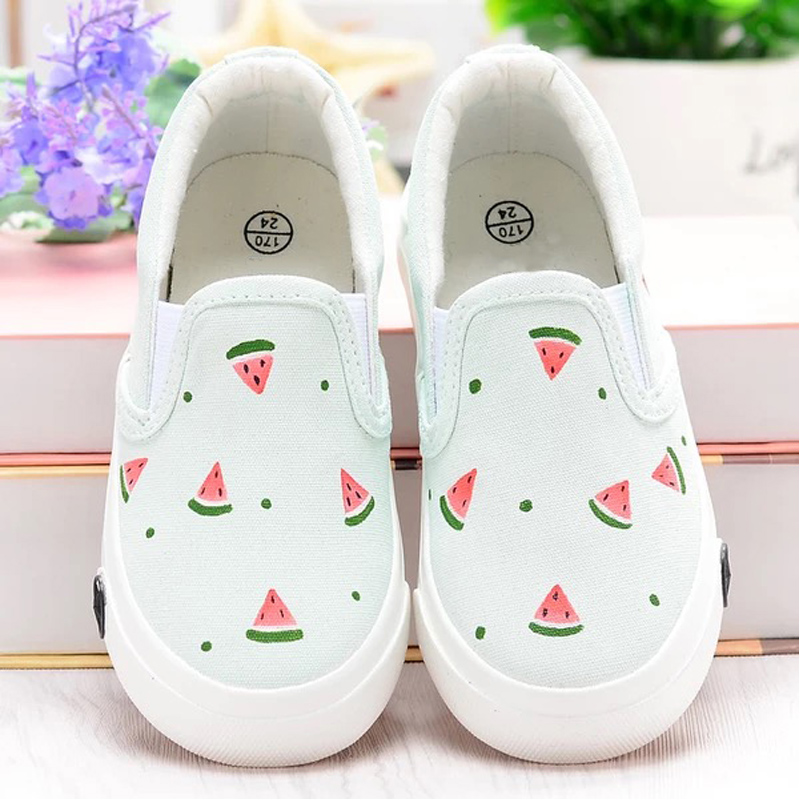 WENDYWU watermelon cartoon shoes for childen sneakers art