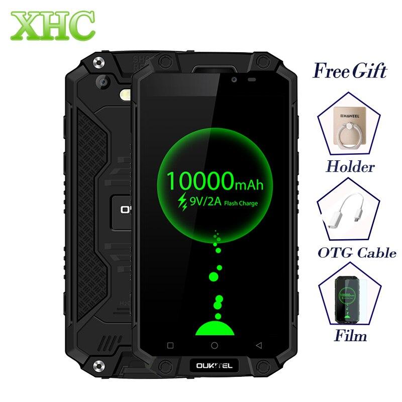 IP68 Oukitel K10000 Max Водонепроницаемый противоударный смартфон MTK6753 3g + 32 г 16MP 10000 мАч Батарея 5,5 FHD две SIM 4 г мобильных телефонов