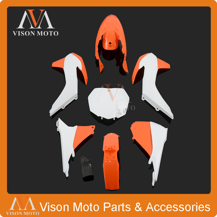 Complete Body Plastics Kits For KTM SX125 SX150 SX250 SXF250 SXF350 SXF450 2013 2014 Dirt Bike Enduro Supermoto Racing Motocross haas