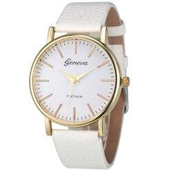Lovesky 2018 Fashion Geneva Watch Women Simple Leisure Analog Leather Quartz Wrist Watches Luxury Brand geneva watches women