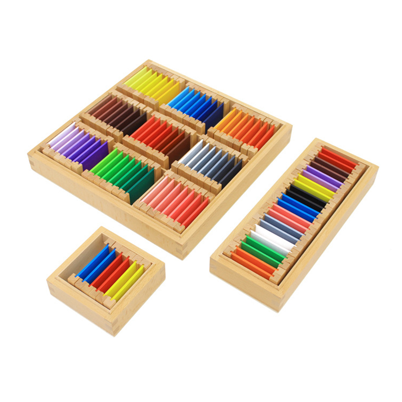 Dental House Montessori Materials Montessori Sensory Toys Color Box Wooden Colorful Multicolor Tablet Boxs Educational Preschool