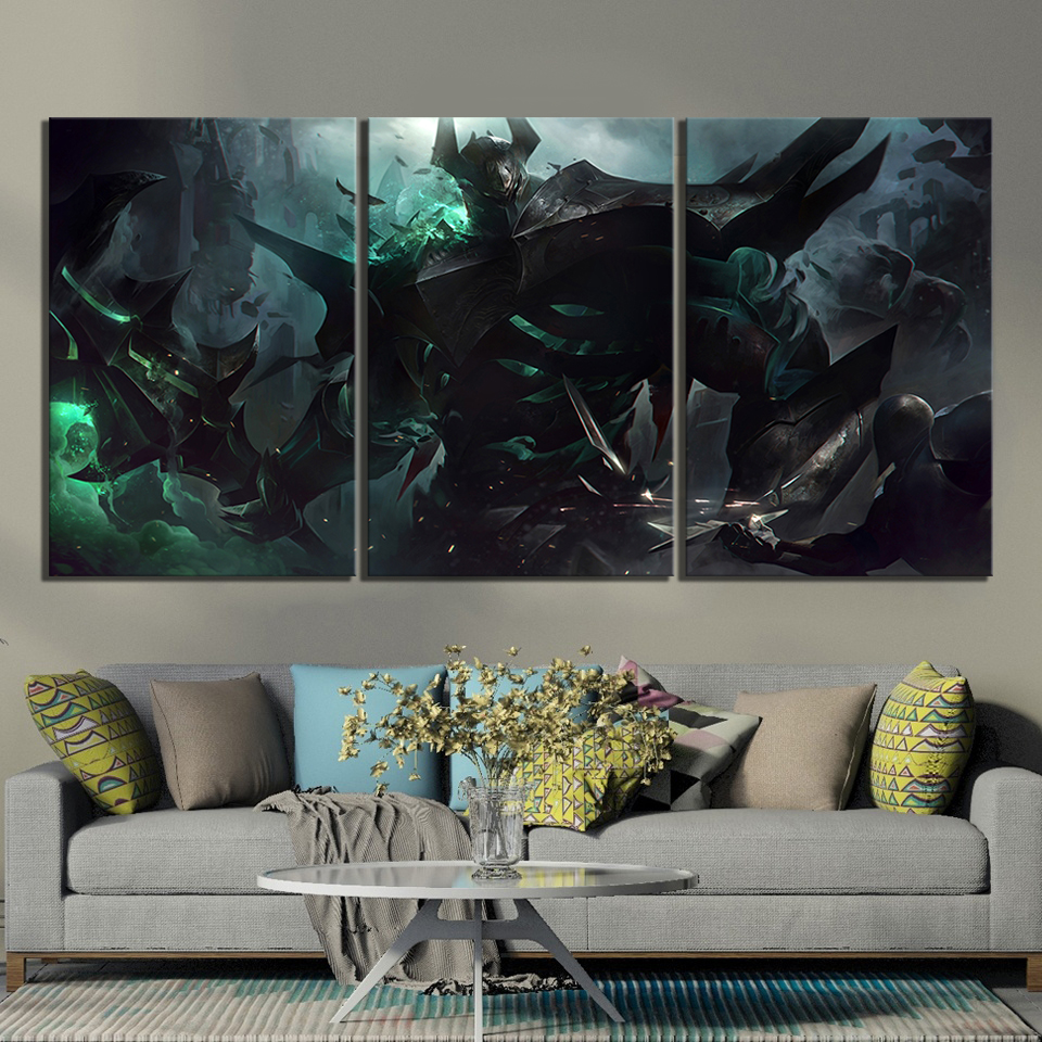 3 Pieces The Iron Revenant Mordekaiser League of Legends Game Poster Paintings LOL Games Art Wall Paintings for Home Decor 1