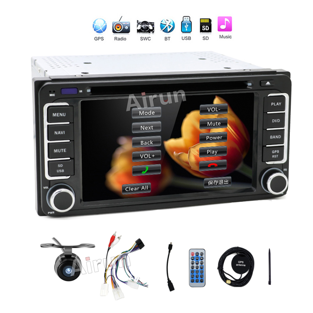 Autoradio USB 2din Car DVD GPS for Toyota Hilux VIOS Camry Corolla Prado RAV4 Prado 2003