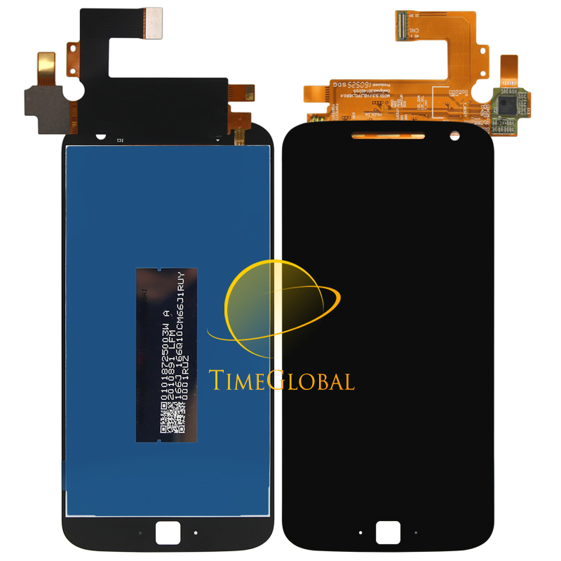 ФОТО 2pcs/lot For Motorola Moto G4 Plus LCD Display + Touch Screen Digitizer Assembly without Frame Black White color Free Shipping
