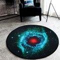 3D космический ковер Galaxy Star  фланелевый круглый коврик для стула для мальчиков  домашний декор  прикроватные коврики  нескользящий ковер для ...