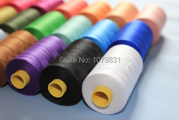 Eco-friendly 100% Cotton Sewing Thread, 800 Yards Each, 12 Pcs/set, 36 Basic Color Available