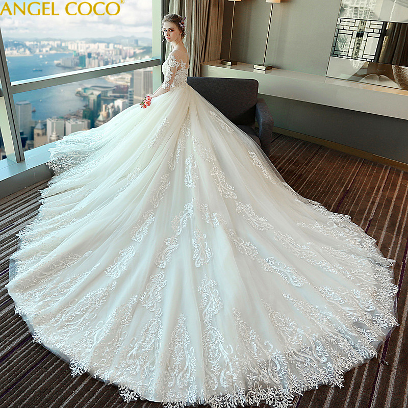 Maternity Dresses Large Size High Waist Pregnant Woman Court Shoulder Stretch Lace Long Sleeve Pregnancy Wedding Dress Bride high waist bandage long sleeve dress