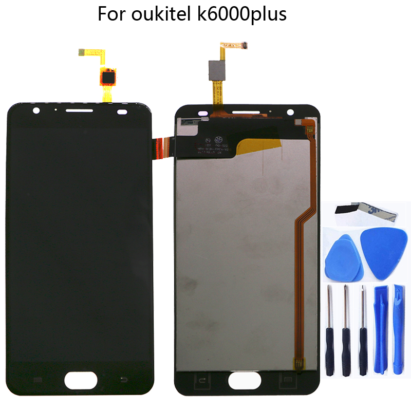"""For Oukitel K6000 Plus 100% new Original LCD display and touch screen 5.5"""" screen digitizer component replacement Free shipping-in Mobile Phone LCD Screens from Cellphones & Telecommunications"""