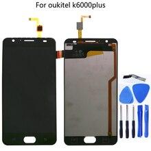 """ل Oukitel K6000 زائد 100% جديد الأصلي LCD و شاشة تعمل باللمس 5.5 """"شاشة محول الأرقام مكون استبدال شحن مجاني"""