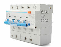 security protection CHINT 4P 100A high power 50HZ/60HZ Residual current Circuit breaker with over current protection RCBO