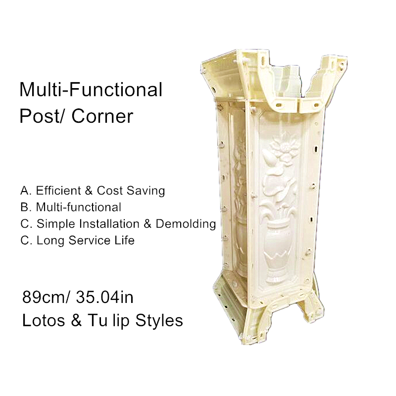 89cm /35.04in Multi Functional Lotos & Tuilip Cast in Place Balcony & Gardening Crossing Balustrade Concrete Post/ Corner Mold89cm /35.04in Multi Functional Lotos & Tuilip Cast in Place Balcony & Gardening Crossing Balustrade Concrete Post/ Corner Mold