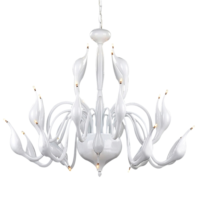 Art Deco European Candle Crystal LED Swan Chandeliers Ceiling Bedroom Living Room Modern Decoration G4 24 Lighting Free Shipping