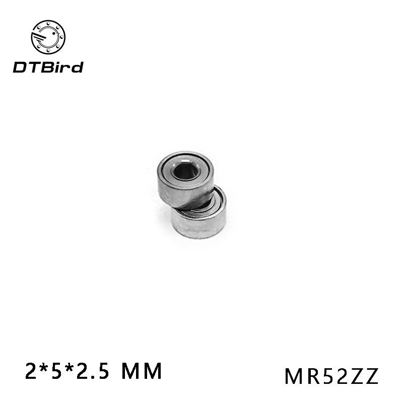 Free shipping 10pcs High quality Low-speed bearings MR52 Z MR52ZZ MR52Z L-520ZZW52 2x5x2. 5 mm 2*5*2.5 mm free shipping 10pcs ad580mh ad580 precision 2 5 v reference can3