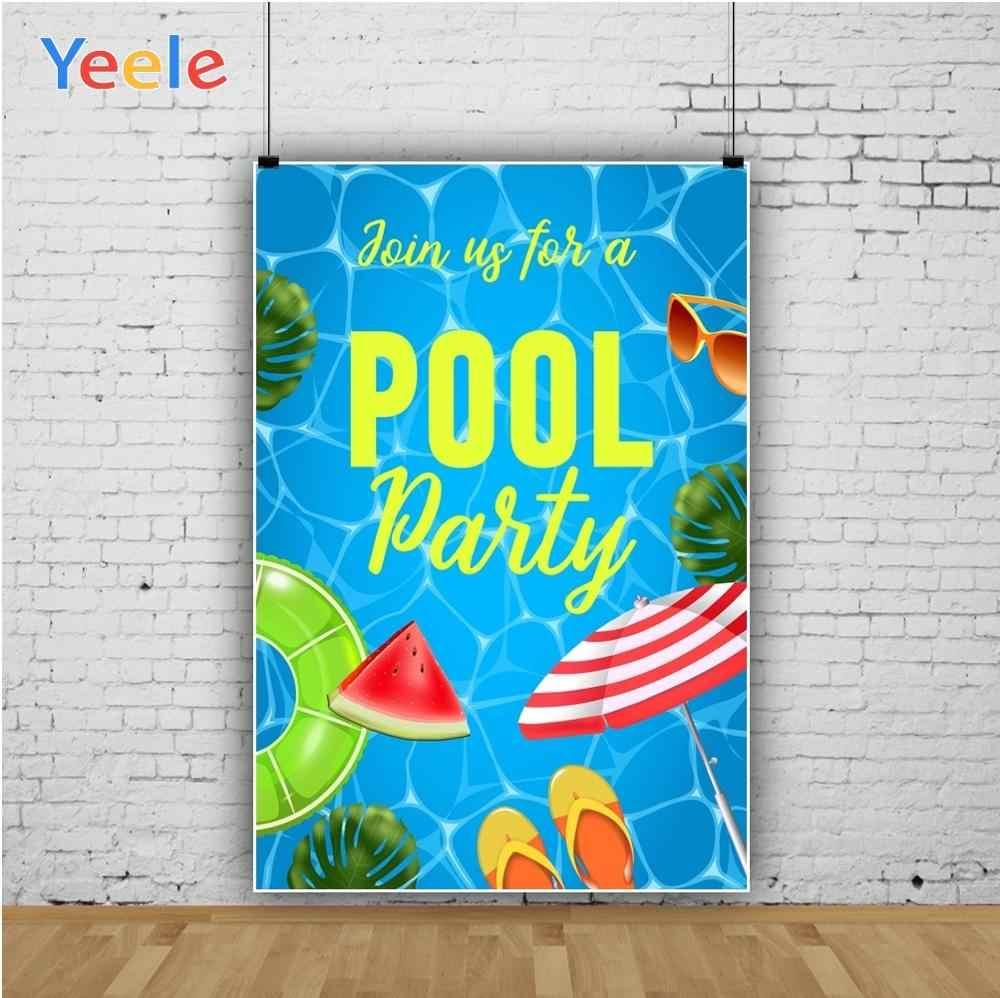 Yeele Лето фрукты тропика бассейн вечерние кольцо для плавания фотографии фоны индивидуальные фотографические фоны для фотостудии