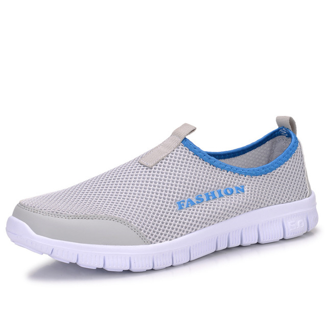 2017 Men Shoes Summer Shoes Light Comfortable Men Casual Shoes zapatos hombre Mesh Breathable Loafers Footwear Plus Size 38-46
