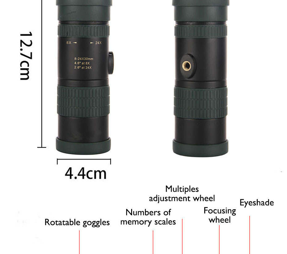 D' Água Mini Monocular Telescópio Monocular com