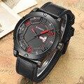 Мужские кварцевые часы CURREN  модные дизайнерские водонепроницаемые наручные часы с кожаным ремешком  отображением даты и недели