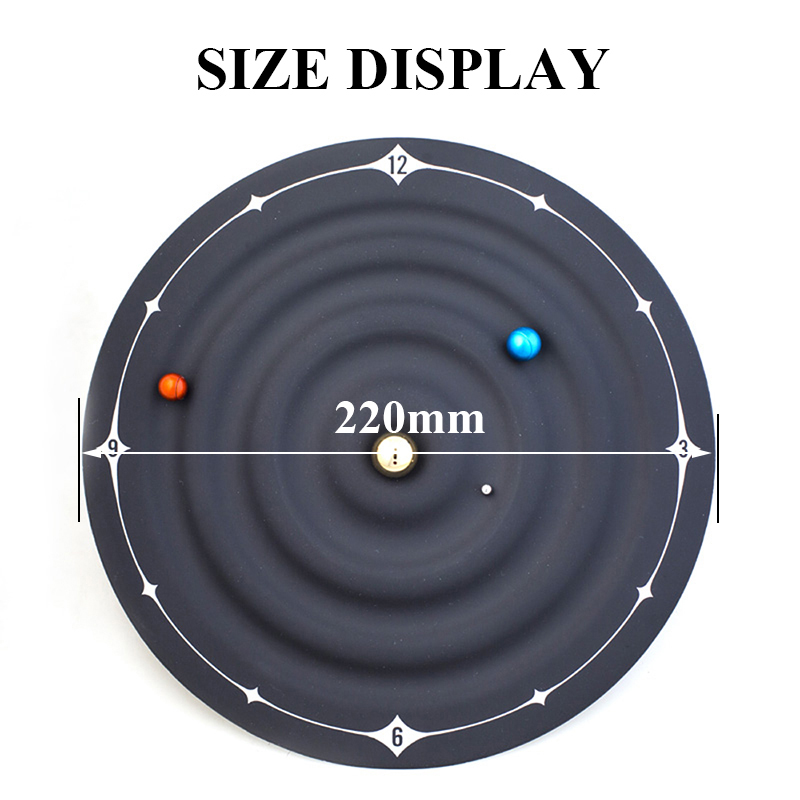 Image 2 - Creative Table Alarm Clocks Modern Design Orbit Galaxy Magnetic  Clocks Planet Ball Desk Watches Wall Mounted/Desktop Home DecorWall  Clocks