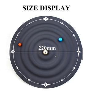 Image 2 - Relojes creativos de mesa con alarma y diseño moderno, relojes magnéticos con diseño de galaxia orbital, relojes de mesa con bolas y decoración para el hogar