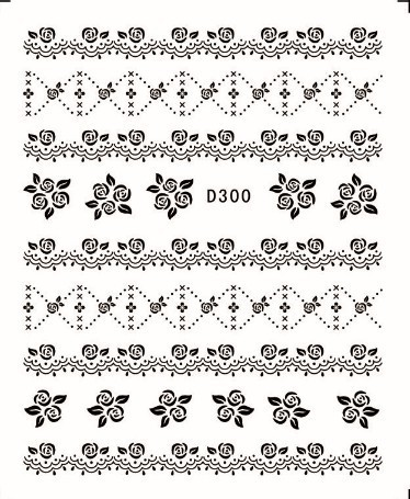 44 Designs Trendy Bow Moustache Lace Nail Art Wrap Water Decals Black Sheets Lot Free Shipping In Stickers From Beauty Health On