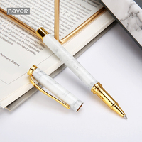 Never Luxury Marble Grain Gel Pen 0 5mm Roller Signing Pen Black Ink Business Gift Stationery