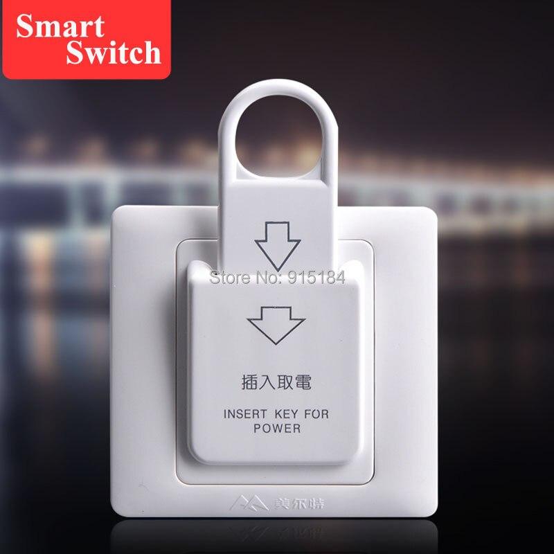 10 Stücke 86x86mm High Grade Hotel Magnet Karte Schalter 220 V/25a, Energiesparende Schalter, Einfügen Schlüssel Für Power, Ohne Zeit Verzögerung