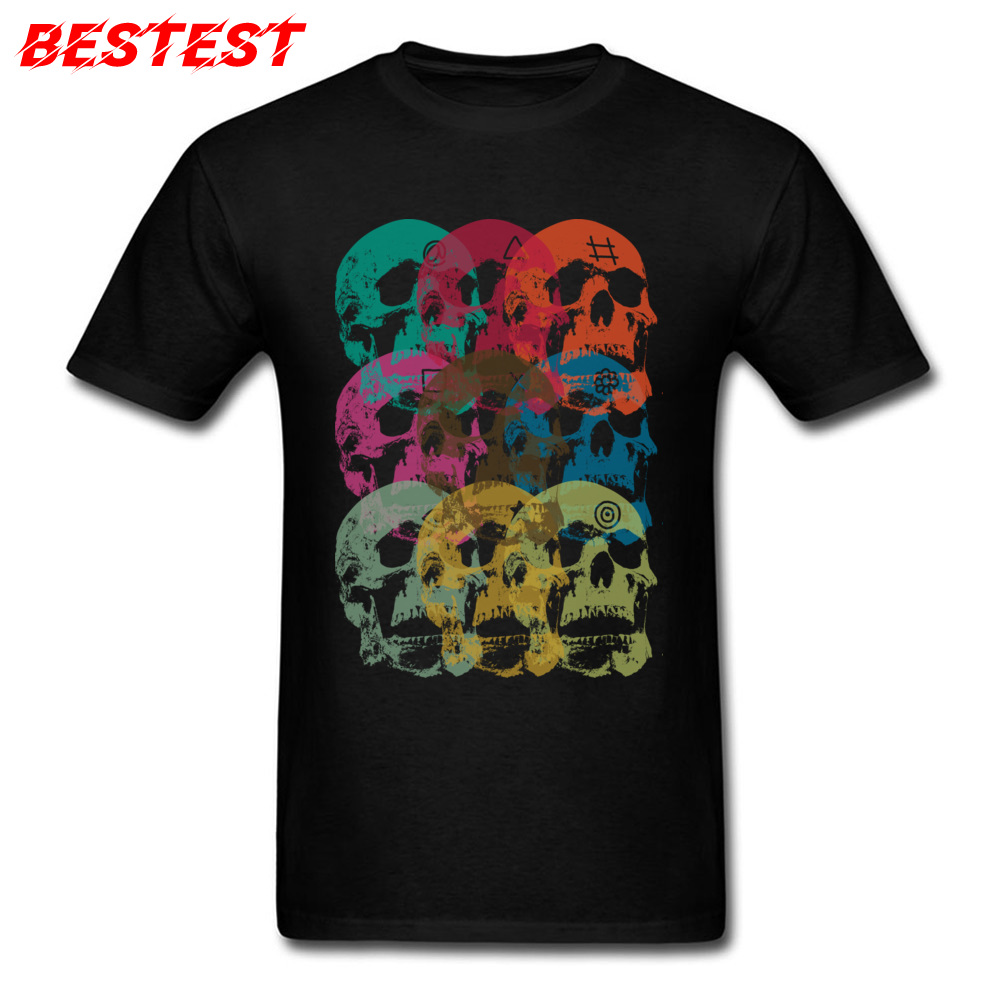 2018 Skulls T Shirt Printed Men T-shirt Cotton Vintage Black Tshirt Keeping Us Sane Short Sleeve Hippie Street Clothes Discount
