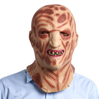 Burned Face Full Head Masks for Adults Scary Halloween Festival Party Accessories Ghost Street Head Cover MJT012