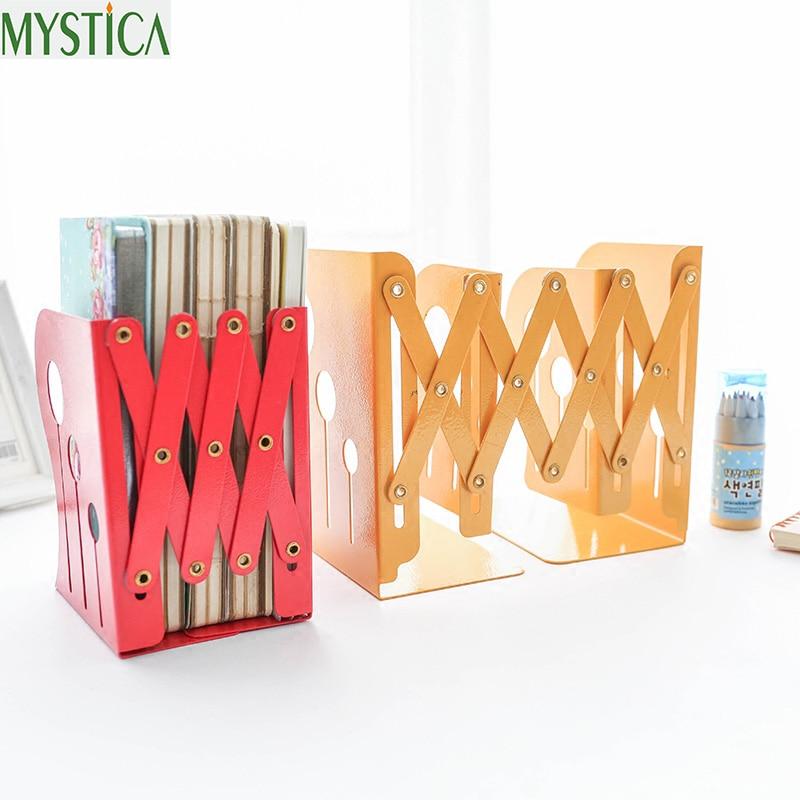 2018NEW miljøvenlig boghylde stue Portable Indtrækbare bøger hylder studerende farve kreative retro bog opbevaring holdere