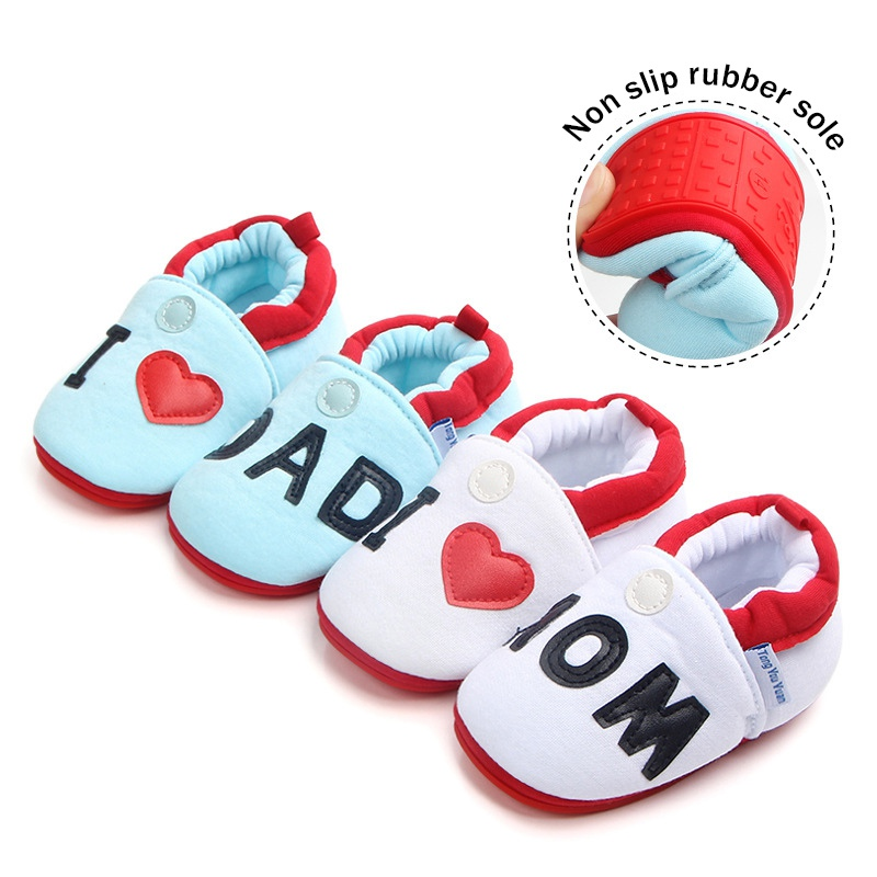 Hot Baby Girl Shoes Canvas Letter Baby Girl Shoes Cotton First Walker Heart-shaped Family Love Spring Baby Girl Shoes