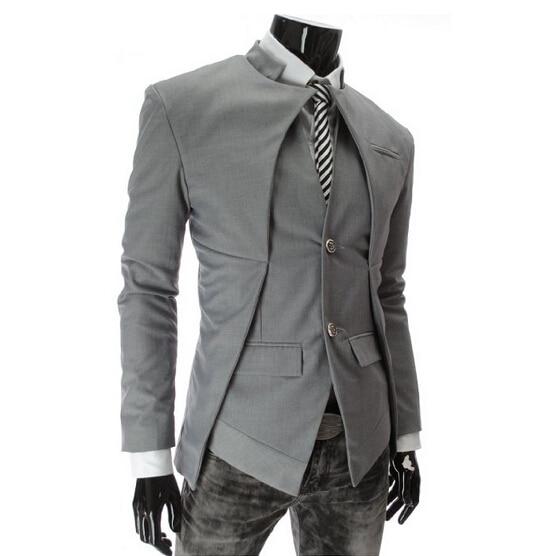 2016 Brand Designer Fashion Mens Suit Jacket England Style Slim ...