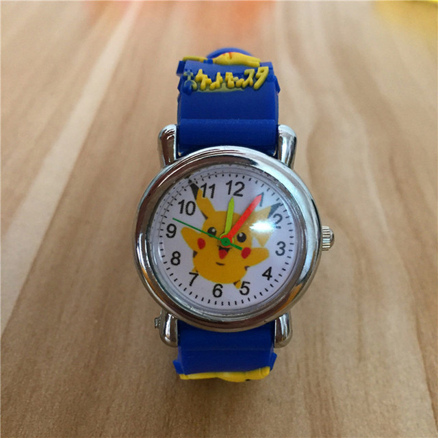 Famous Brand Children's Cartoon Watch 3D Pikachu Elf Silicone Quartz Kids Watch