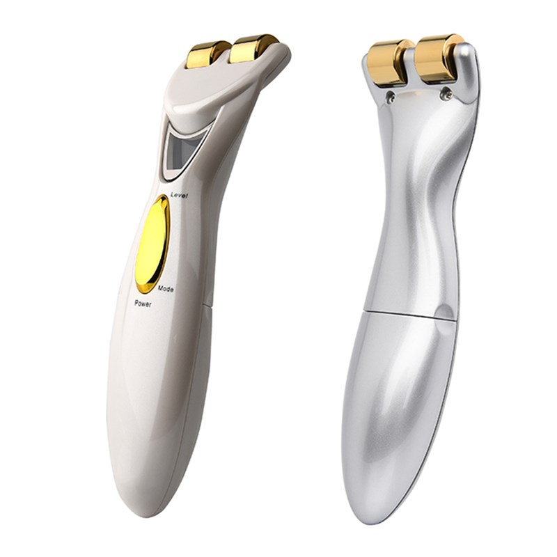 Mini Roller Massager LCD Display Microcurrent Skin Tightening Face Lifting Slimming Wrinkle Removal Energy Beauty Bar Face mini slimming face microcurrent face lift roller facial beauty roller massager stick lift skin tightening wrinkle bar face