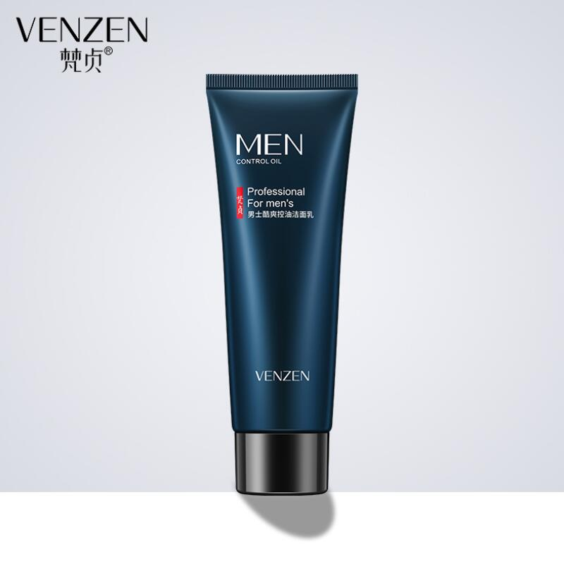 Men's Facial Cleanser Oil Control Moisturizing Bringhtening Rich Foaming Face Cleanser Skin Care