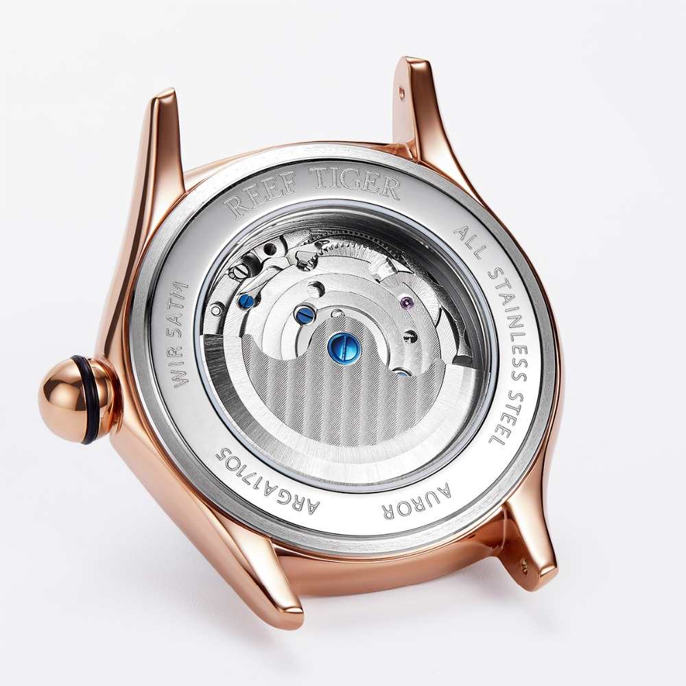 2020 Reef Tiger/RT Womens Luxury Fashion Watches Diamond Automatic Tourbillon Watch Leather Strap Watch Relogio Feminino RGA7105 6