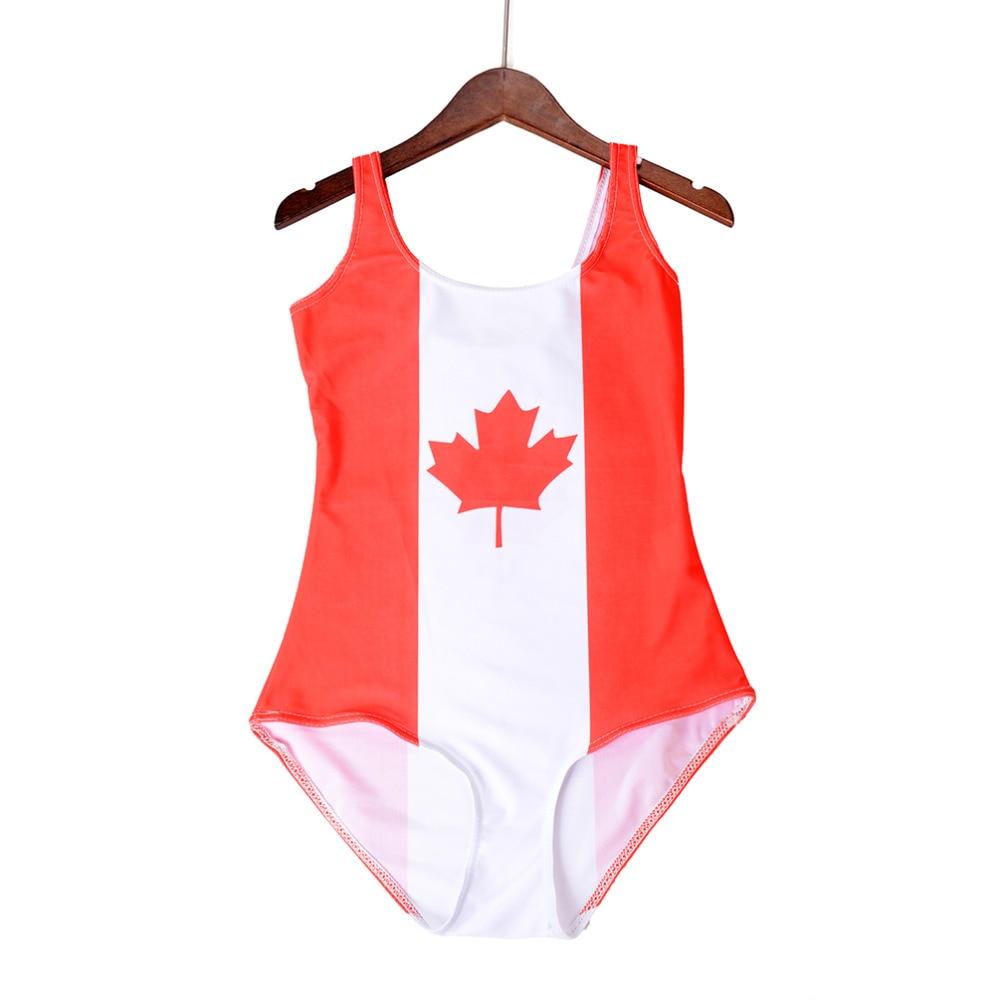 b272aabe80d Summer Sexy Women WORLD FLAGS CANADA Print Bikini Set Digital Bodysuit Beach  SWIMSUIT Swimwear Fitness Wetsuit Sst 1098-in Bikinis Set from Sports ...