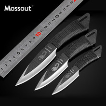 Pocket Knife Tactical Fixed Blade Knife Blade Straight Knives Camping Hunting Outdoor Survival Knife Utility Tools EDC + Sheath