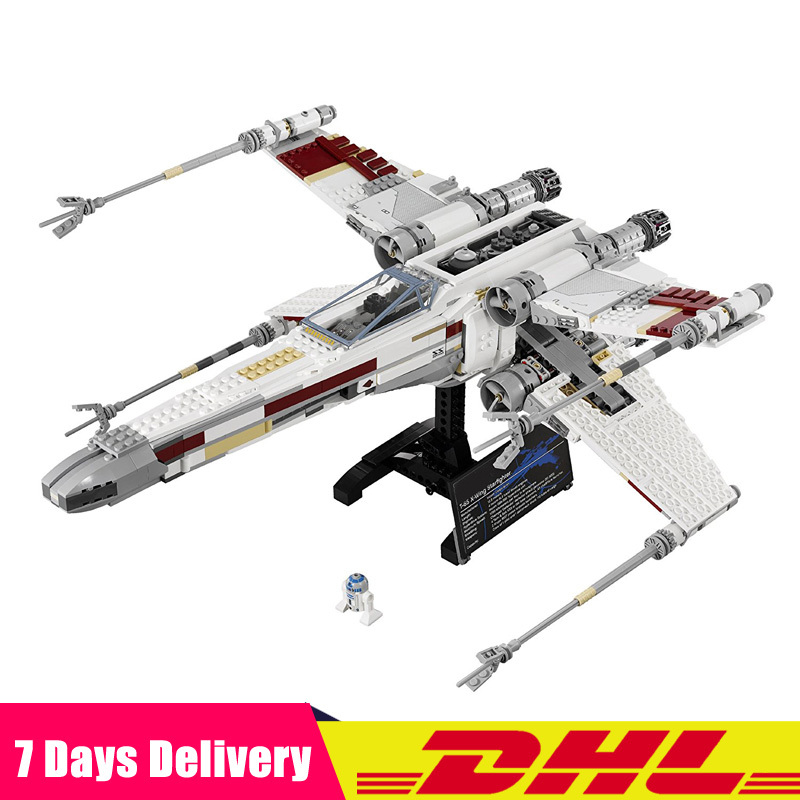 LEPIN 05039 Star War UCS The X-wing Red Five X-wing Starfighter Set Building Blocks Bricks Compatible Legoinglys 10240 lepin 05039 star wars red five x wing starfighter figure blocks construction building bricks toys for children compatible legoe