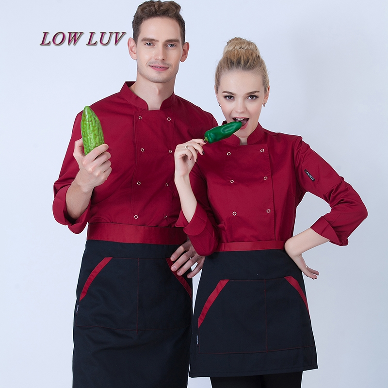New Autumn And Winter Winter Restaurant Coffee Bar Men And Women Chef Jacket Long Sleeve Cook Suit Suits Classic Cook Clothes,