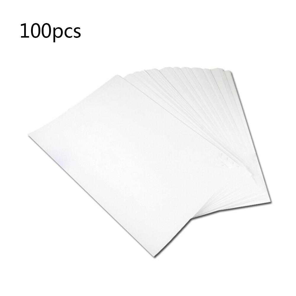 100Pcs A4 Iron On Heat Transfer Paper Press Kit For Light T-shirt Inkjet Print