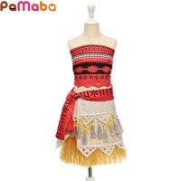 PaMaBa Moana Princess Cosplay Costume Children S Summer Beach Dress Up Kids Polynesian Style Clothing Hawaii