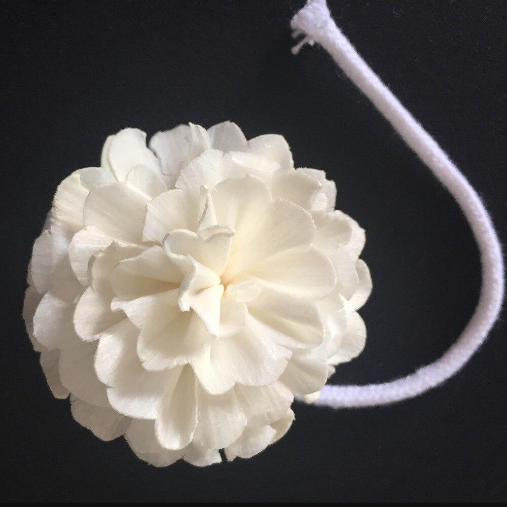 48 Uds Sola flor con cuerda para la simulación del difusor de la Frangrance de la planta para el ambientador del difusor de la caña