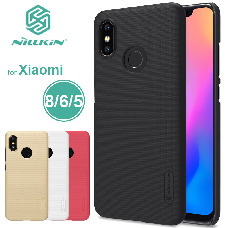 Xiaomi Mi8 Causa Nillkin Super Glassata Shield Xiaomi Mi 8 Mi 6 Caso Della Copertura Posteriore Xiaomi M5 Mi5 Mi6 Nilkin Cassa Del Telefono + Protector pellicola