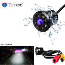 Topbox Автомобильная камера заднего вида 8 светодиодный ночное видение Реверсивный авто парковка монитор CCD водостойкий 170 градусов HD видео