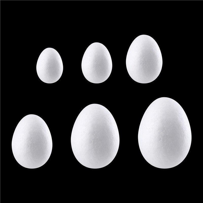 10 шт. пенопластовые шары белый шарики для творчества яйцо моделирование полистирол Дети DIY Рождество вечерние украшения вечеринок творческий подарок