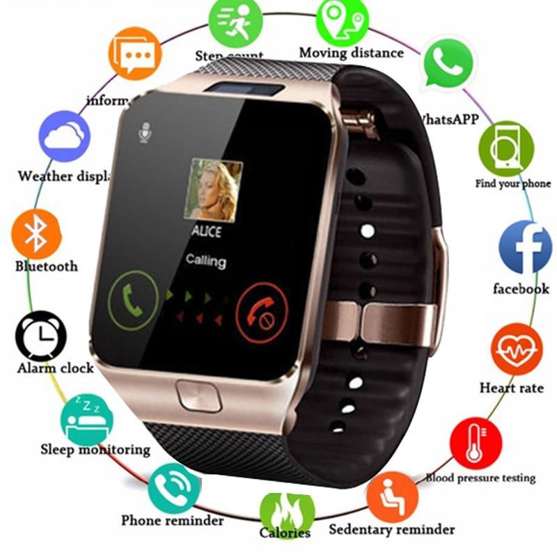 Smart-Watch Sim-Camera Huawei Bluetooth Xiaomi Android Women Samsung TF DZ09 Sport