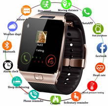купить Bluetooth Smart Watch DZ09 Smartwatch TF SIM Camera Men Women Sport Wristwatch for Samsung Huawei Xiaomi Android Phone Watch Men по цене 551.01 рублей