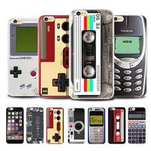 Phone Cases for iPhone 6s 6 Plus 7 8 Vintage Tape Cover Soft Silicon Calculator Cassette Camera For Coque Gamepad
