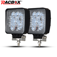 RACBOX 4 Inch 27W Square LED Work Light 6000K For Car Motorcycle Boat Tractor 4x4 SUV